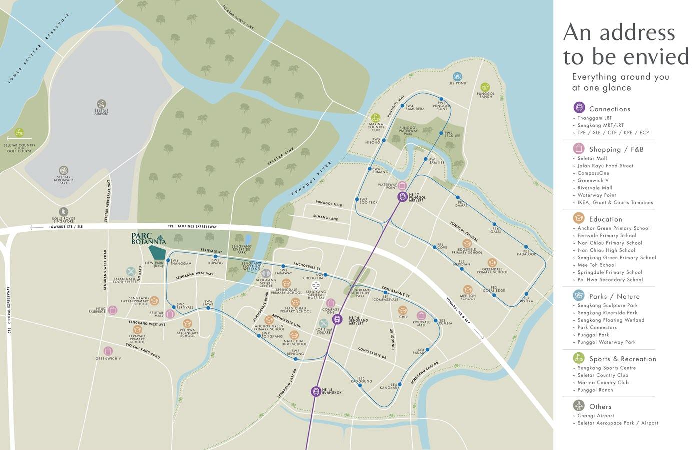 Parc Botannia Condo Location Map