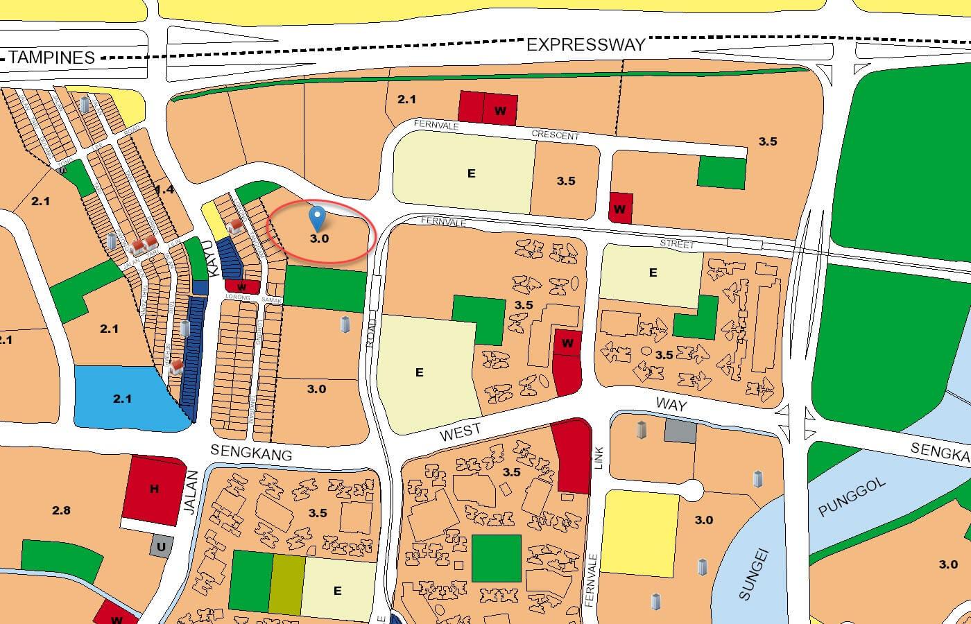 Parc Botannia Condo URA Master Plan Map