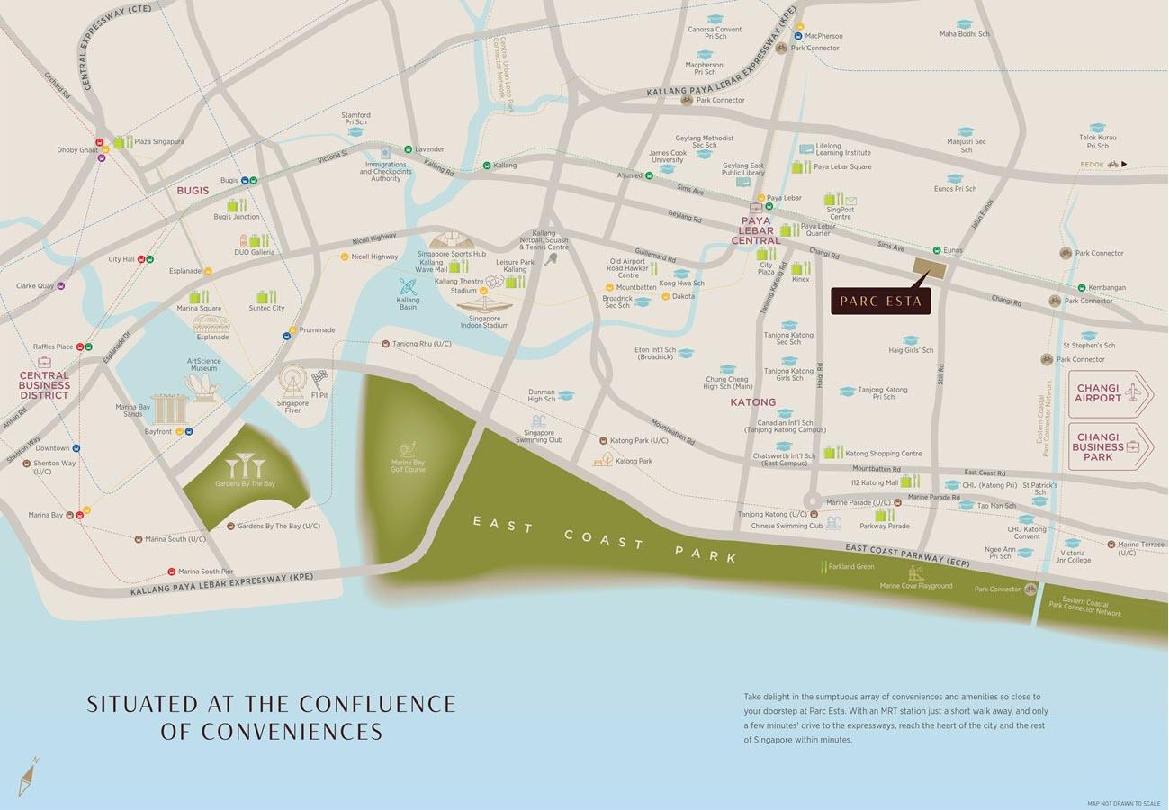 Parc Esta Condo Location Map