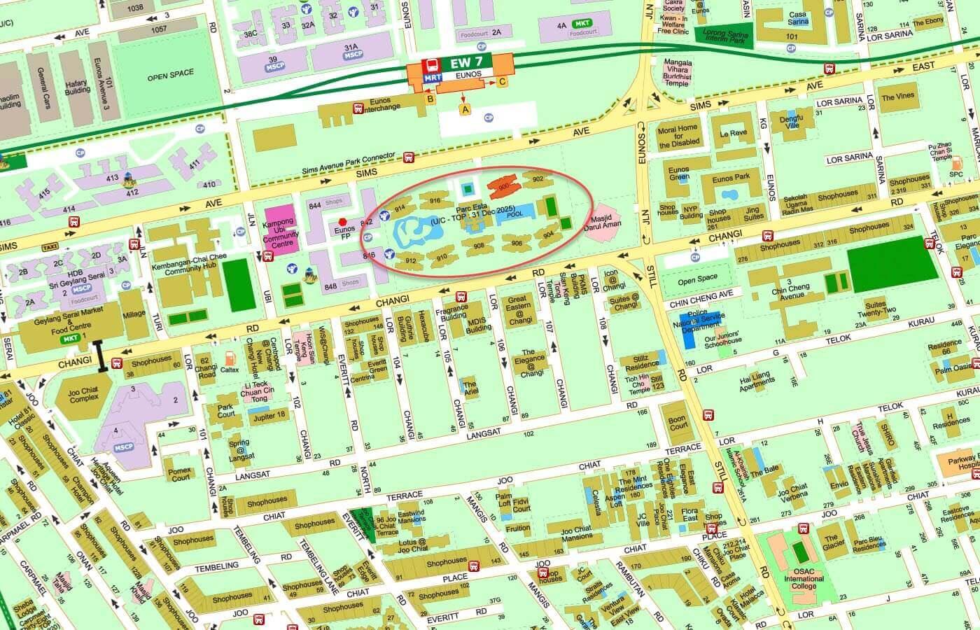 Parc Esta Condo Street Directory Map