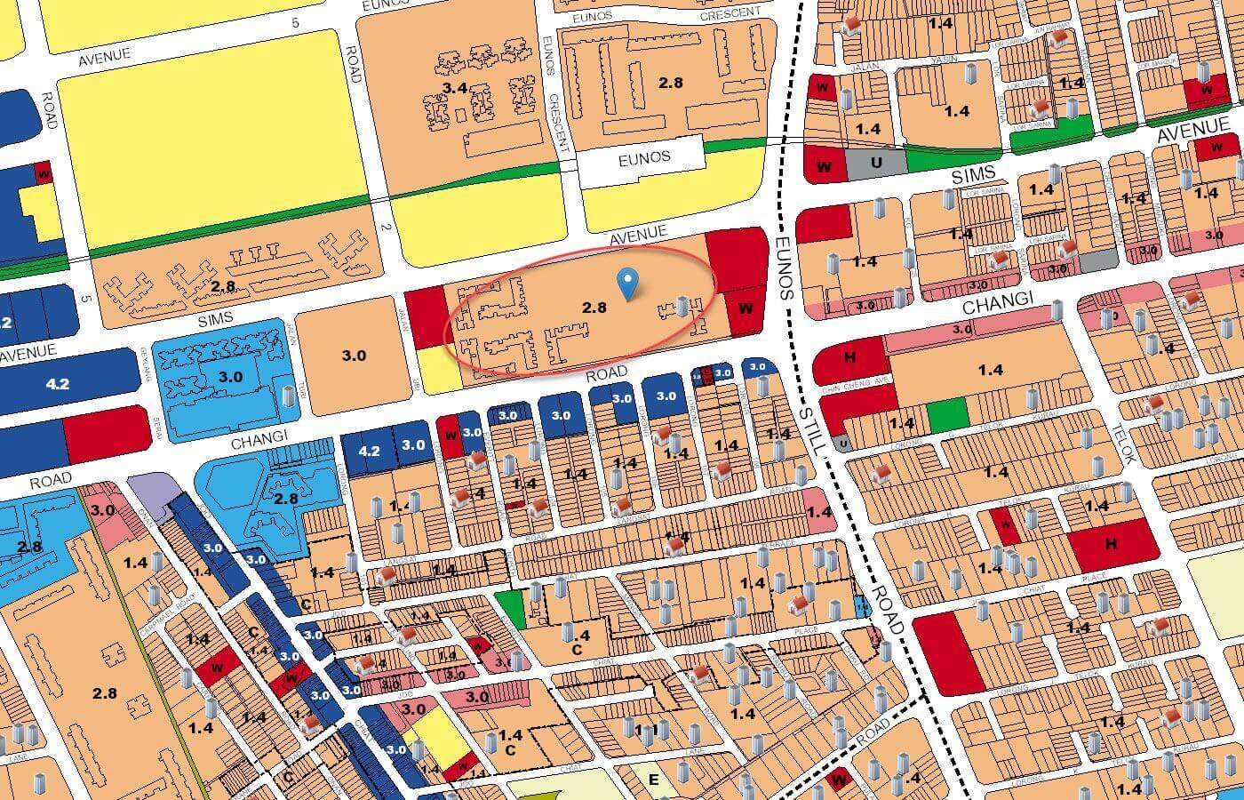 Parc Esta Condo URA Master Plan Map