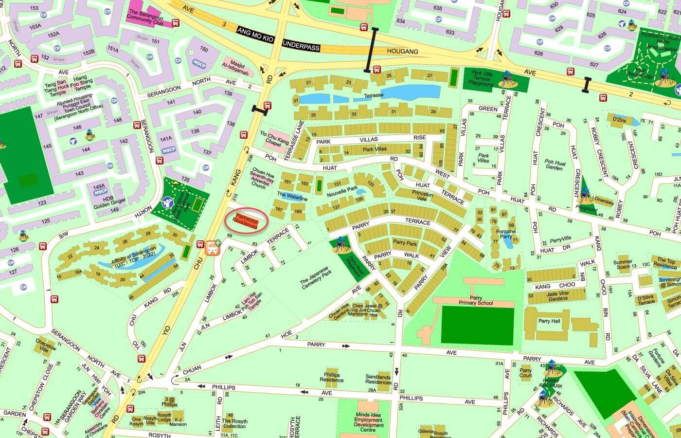 Parkwood Residences Condo Street Directory Map