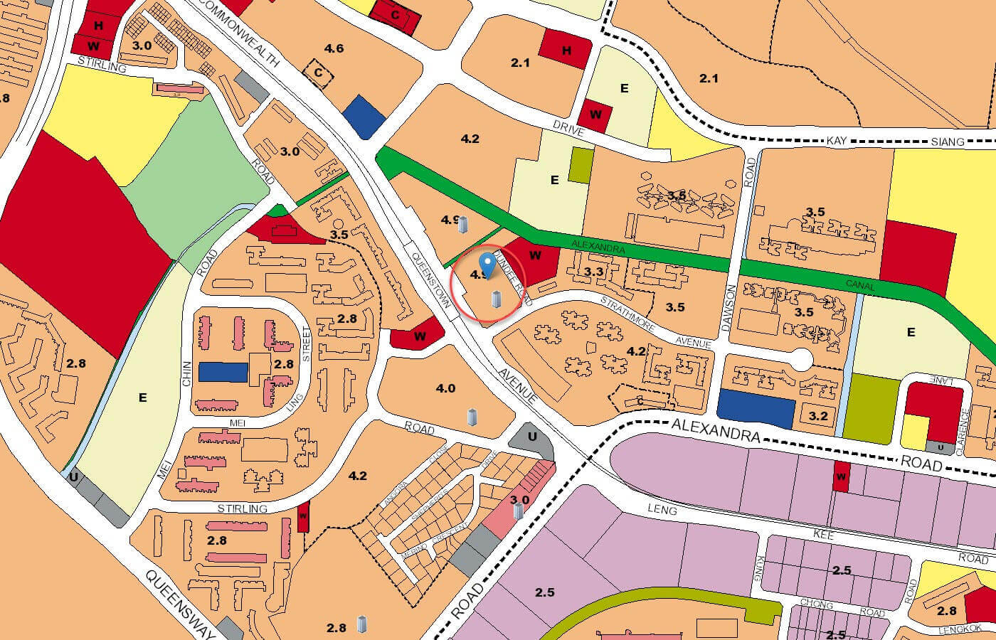 Queens Peak Condo URA Master Plan Map