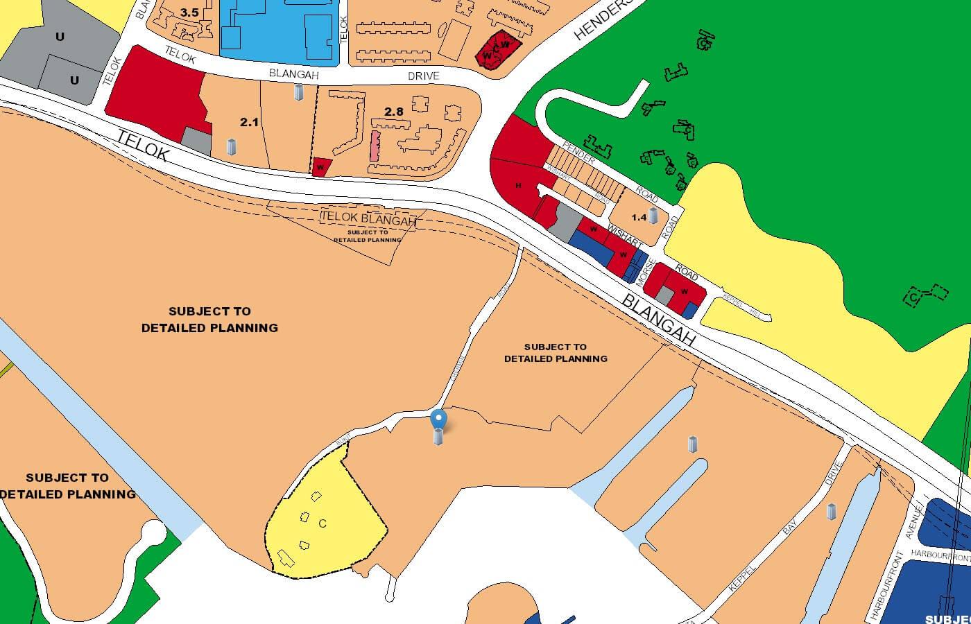 Reflections at Keppel Bay Condo URA Master Plan Map