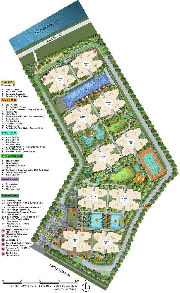 Rivercove Residences EC Site Plan 600 x 979