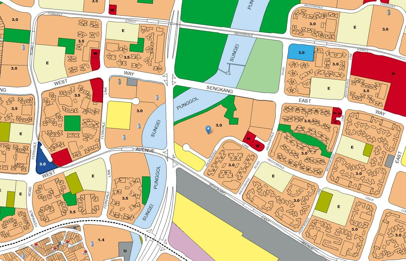 Rivercove Residences EC URA Master Plan Map