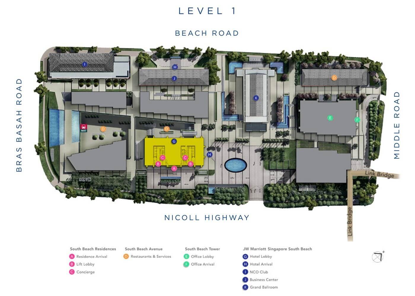 South Beach Residences Condo Site Plan Level 1