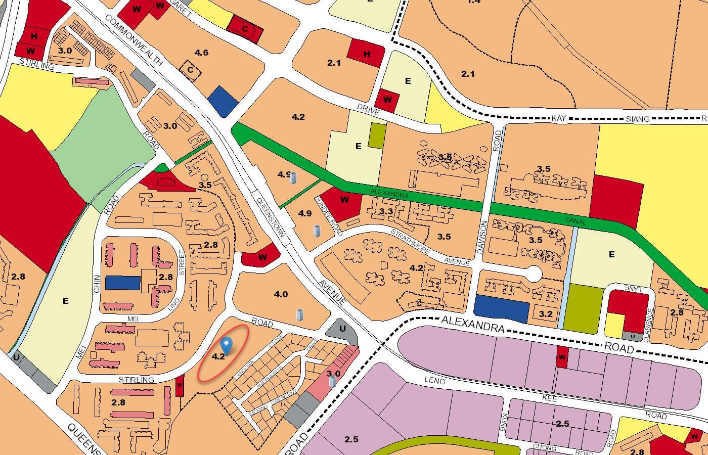Stirling Residences Condo URA Master Plan Map