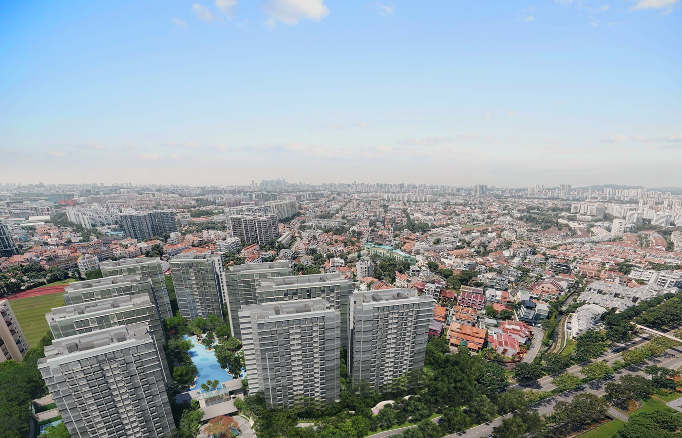 The Florence Residences Condo Ariel View