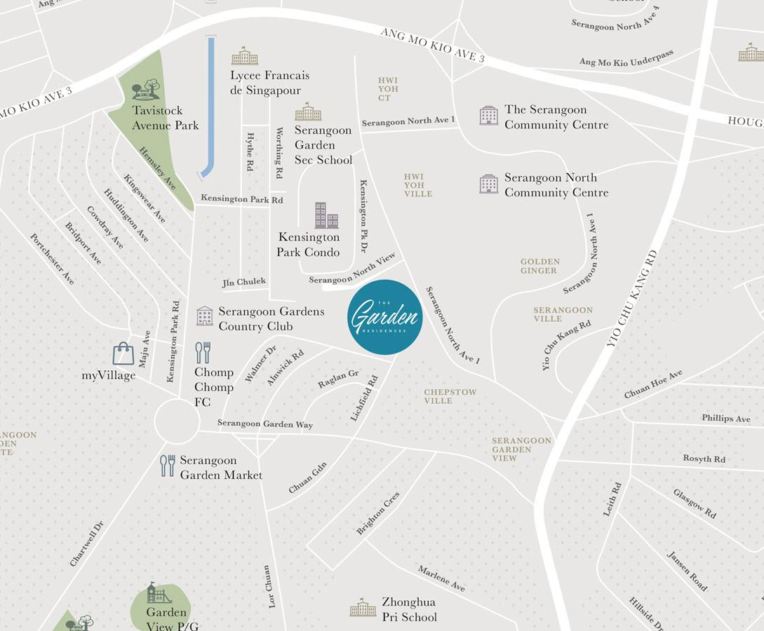 The Garden Residences Condo Location Map