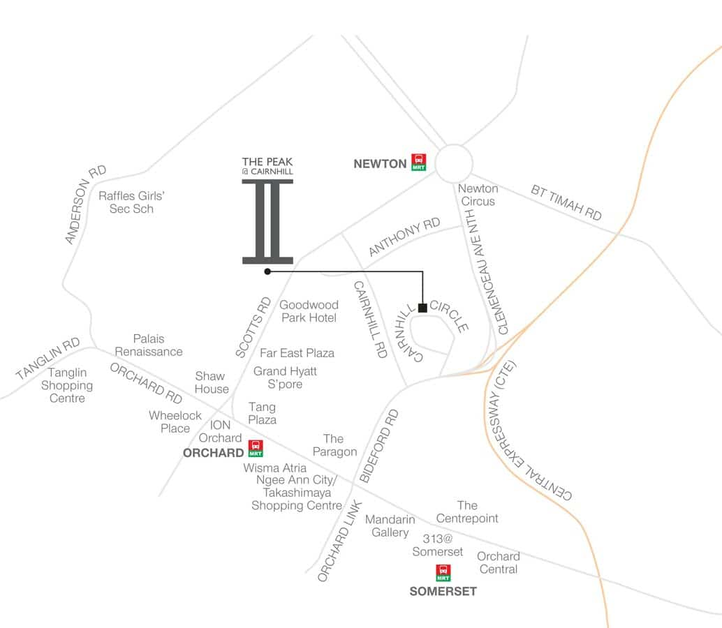The Peak @ Cairnhill II Condo Location Map
