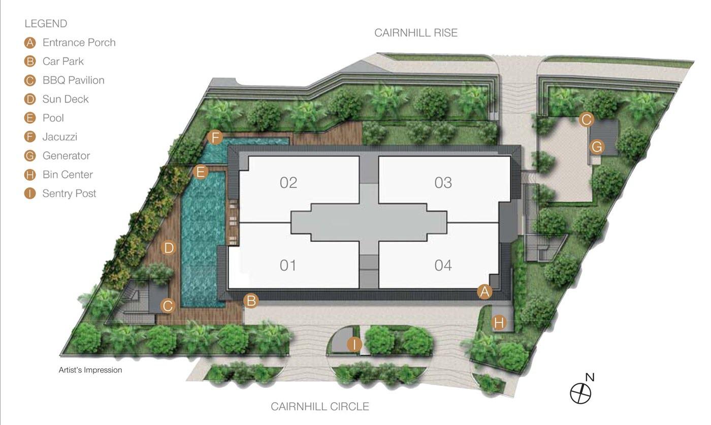 The Peak @ Cairnhill II Condo Site Plan