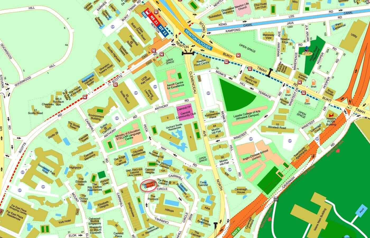 The Peak @ Cairnhill II Condo Street Directory Map
