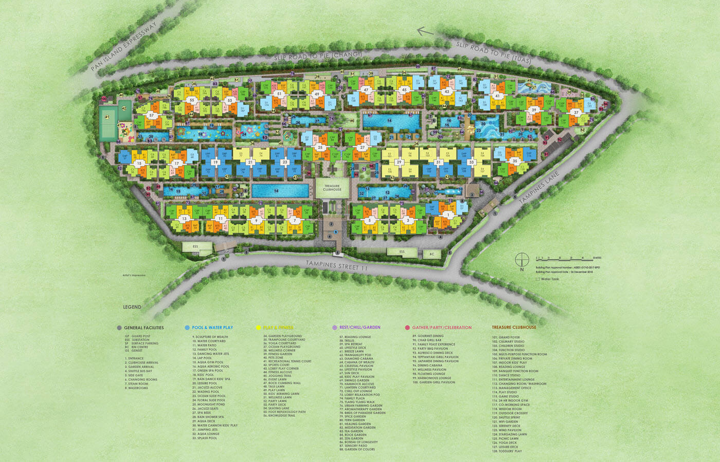 Treasure At Tampines Condo Site Plan