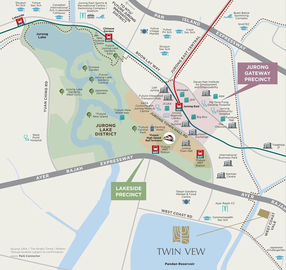 Twin Vew Condo Location Map