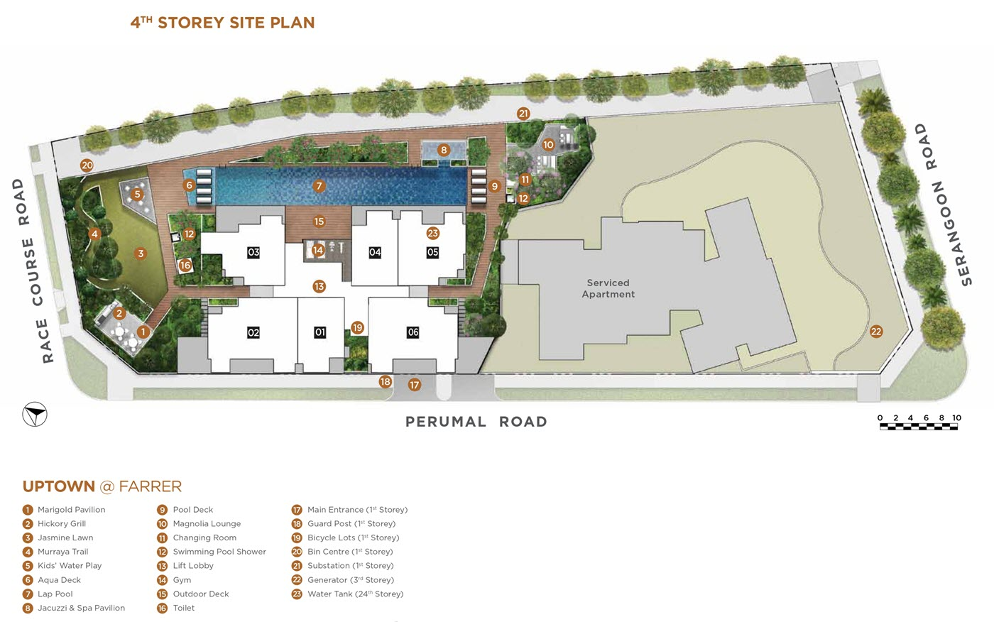 Uptown @ Farrer Condo 4th Storey Site Plan