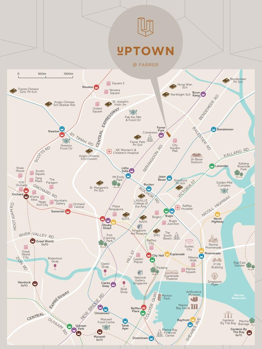 Uptown @ Farrer Condo Location Map