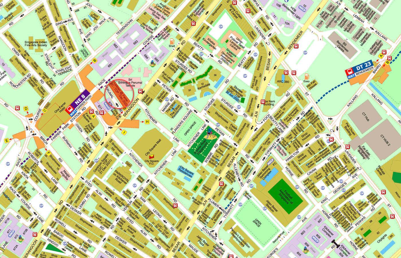 Uptown @ Farrer Condo Street Directory Map