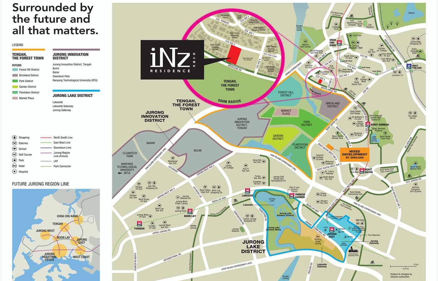 iNz Residence Executive Condo Location Map