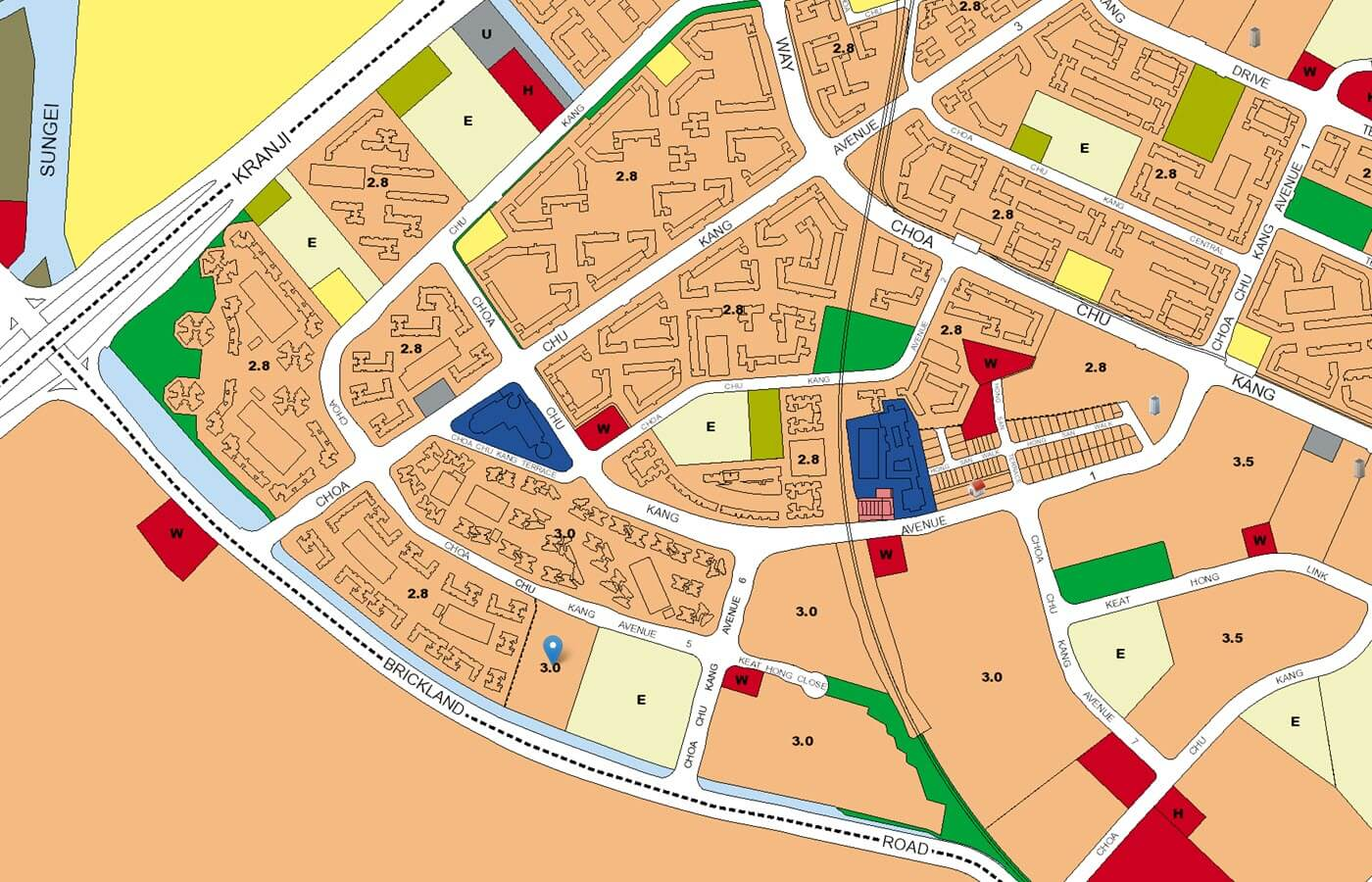 iNz Residence EC URA Master Plan Map