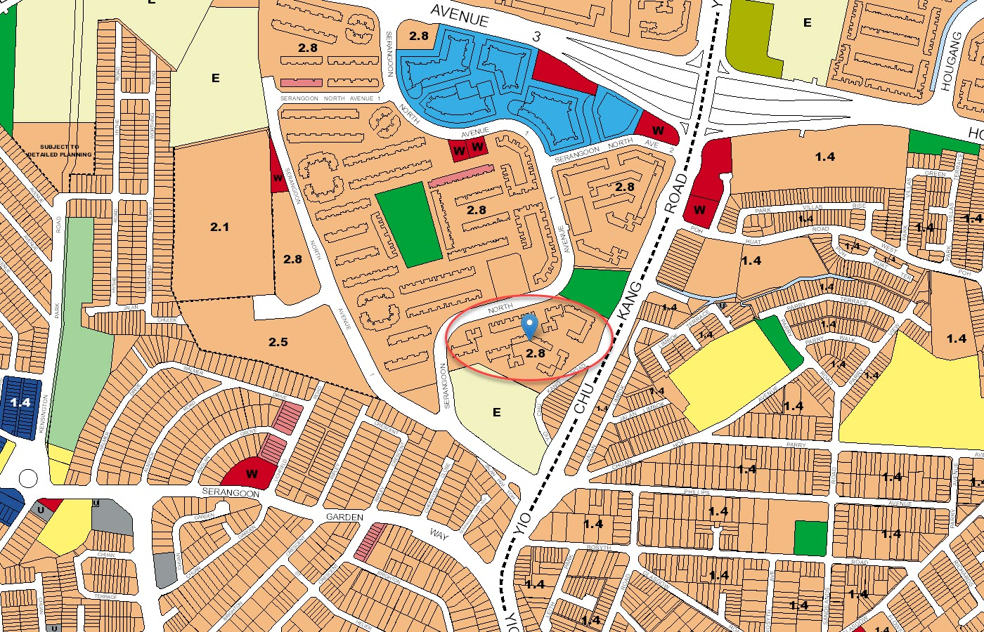 Affinity At Serangoon Condo URA Master Plan Map