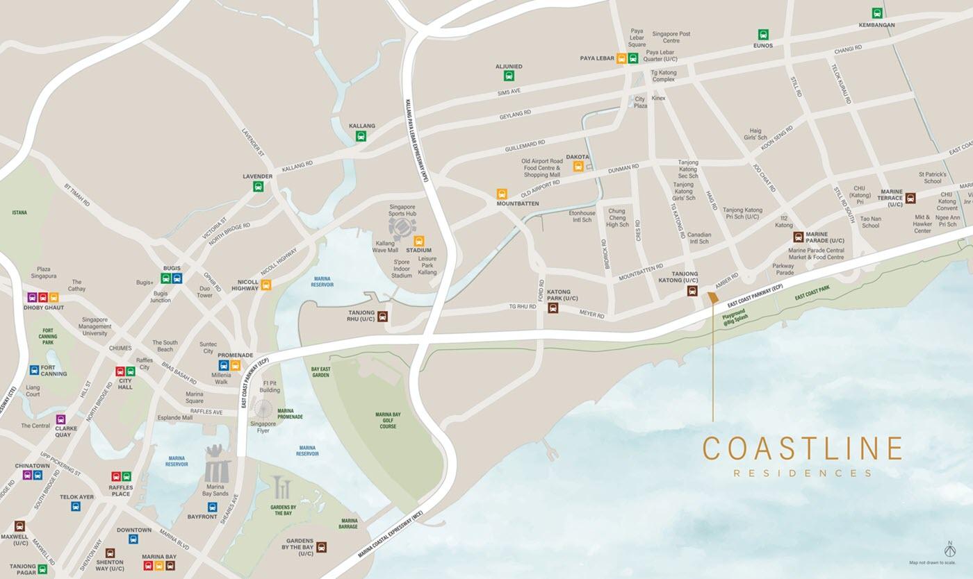 Coastline Residences Condo Location Map