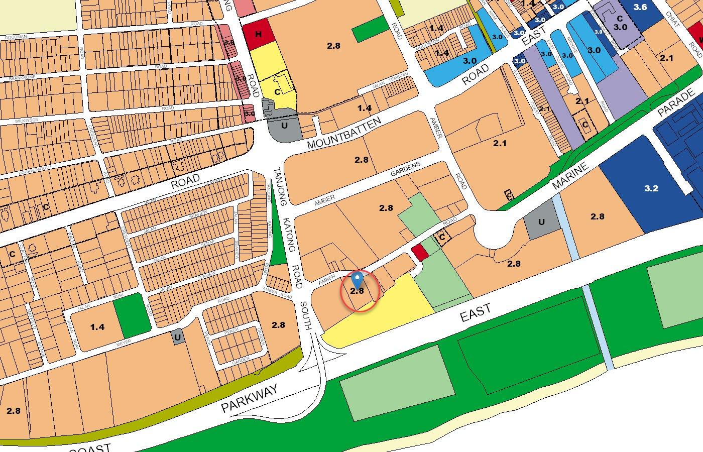 Coastline Residences Condo URA Master Plan Map