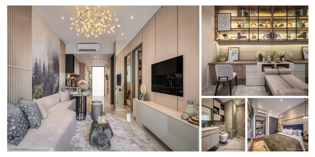 Kent Ridge Hill Residences Showflat 1 Bedroom Study