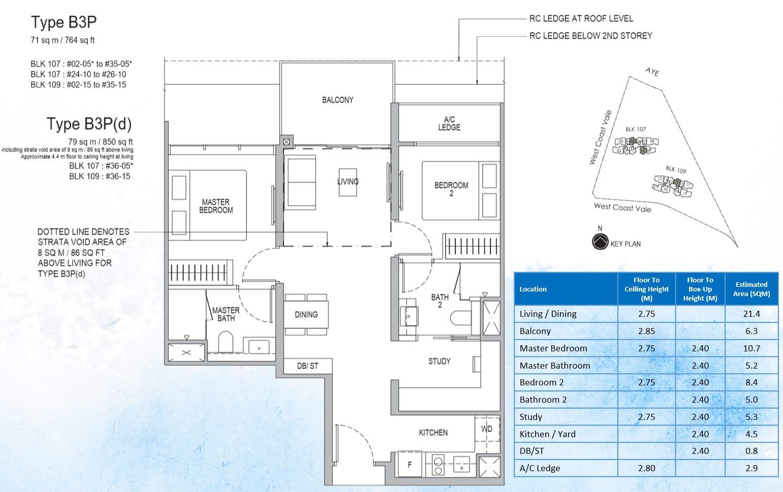 Whistler Grand Showflat Unit - 2 Bedroom Premium Study