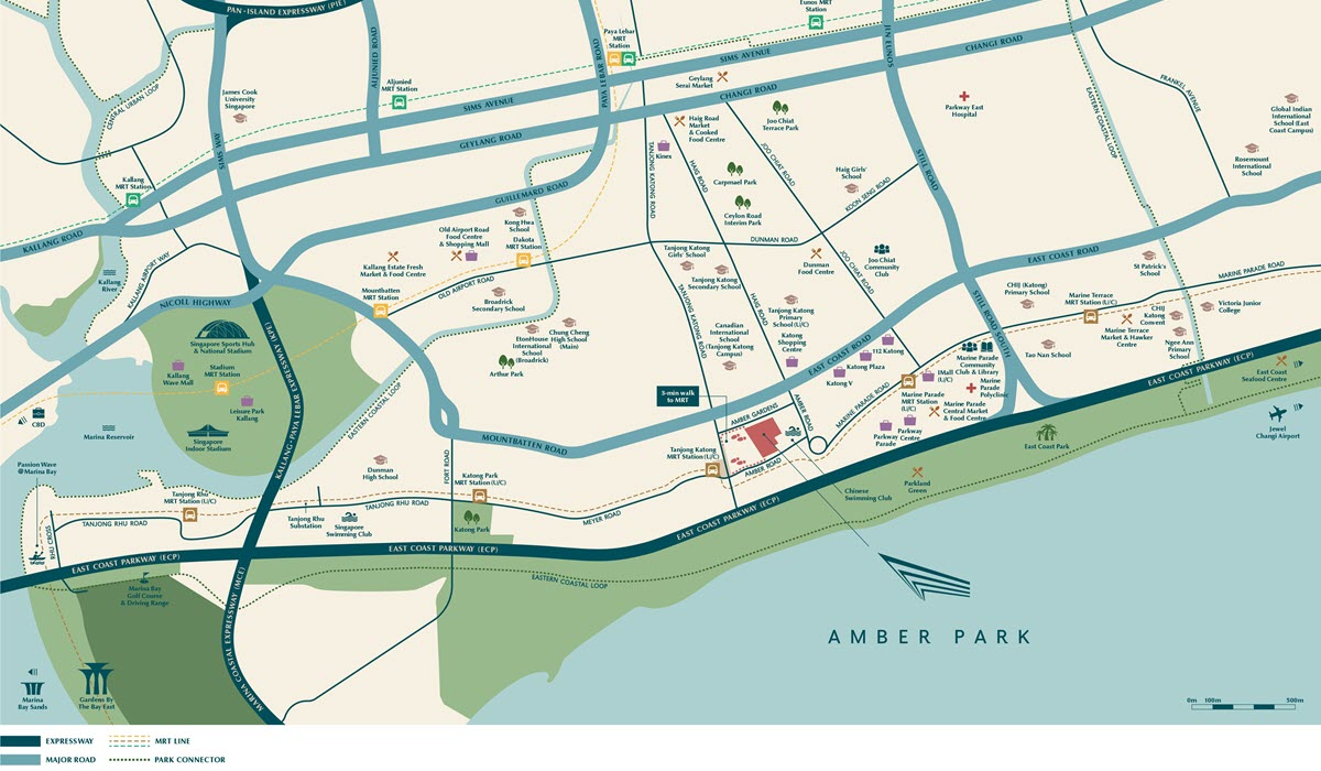 Amber Park Condo Location Map