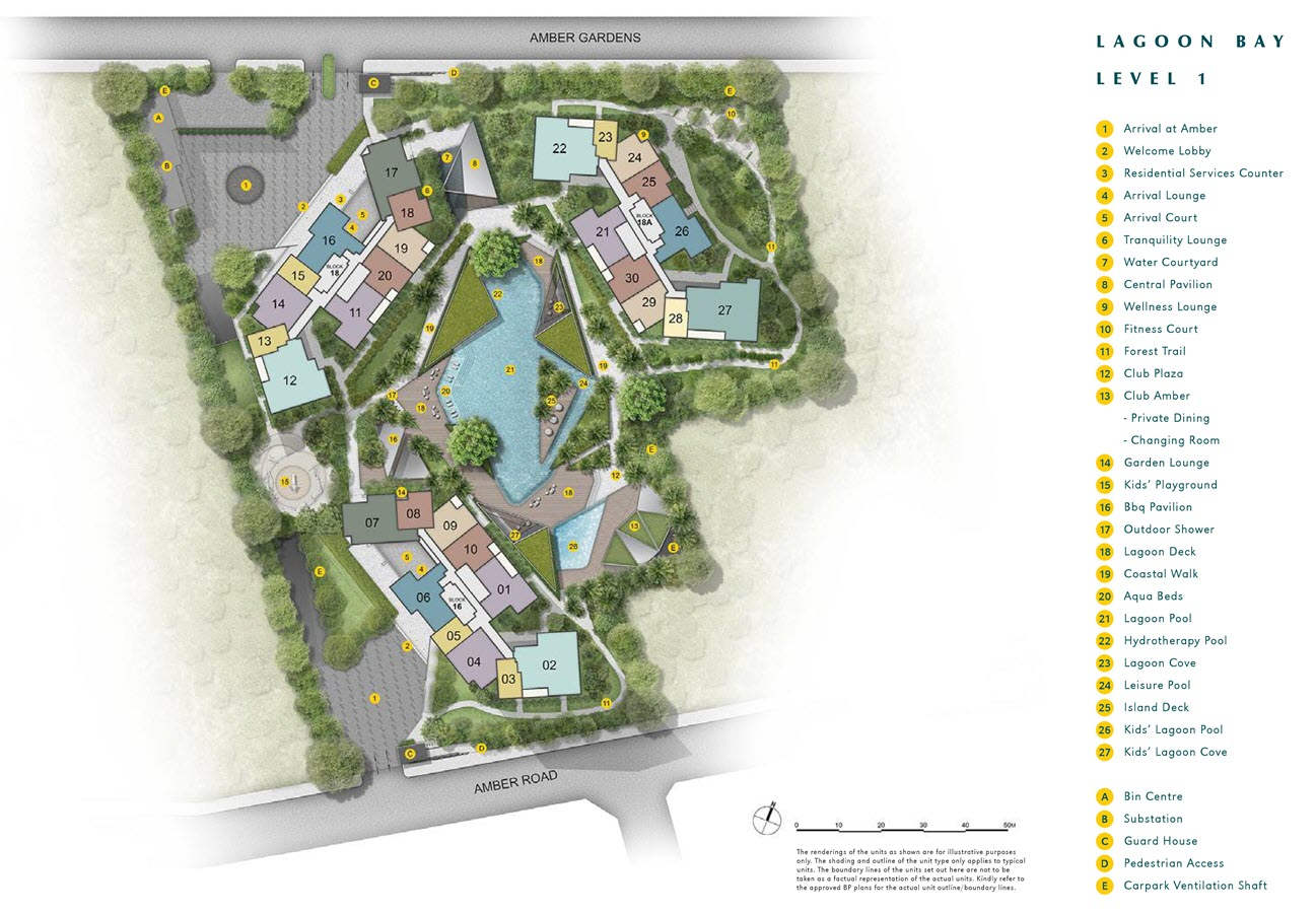 Amber Park Condo Site Plan (at Level 1)