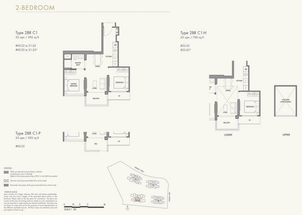 Parc Botannia Condo Floor Plan 2BR C1