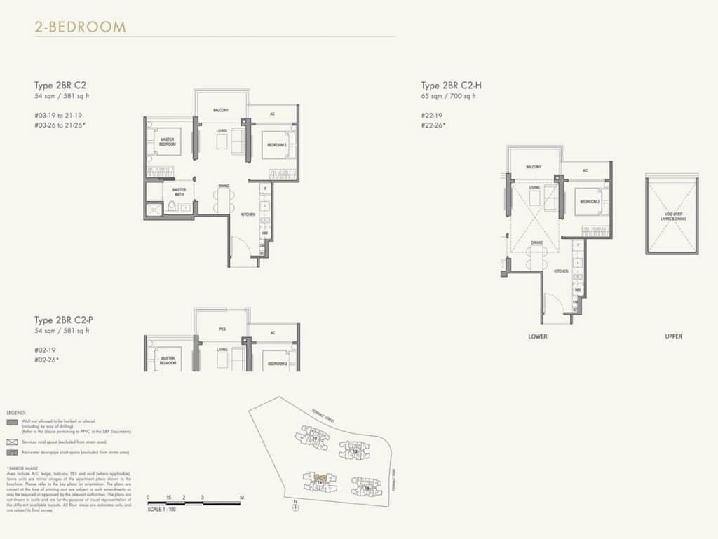 Parc Botannia Condo Floor Plan 2BR C2