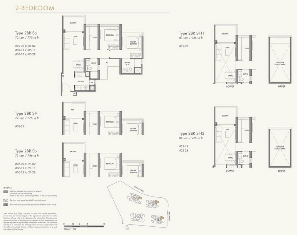 Parc Botannia Condo Floor Plan 2BR S