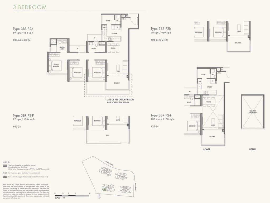 Parc Botannia Condo Floor Plan 3BR P2