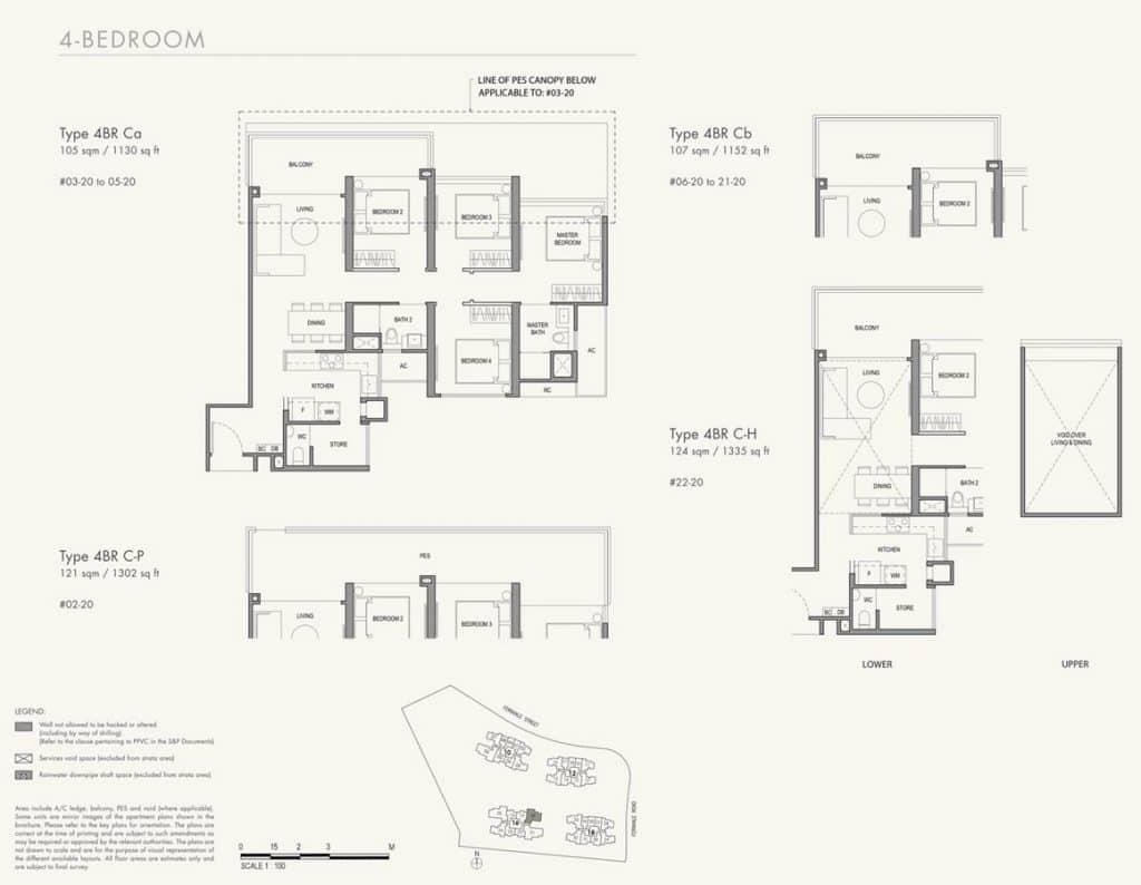 Parc Botannia Condo Floor Plan 4BR C