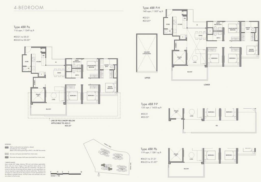 Parc Botannia Condo Floor Plan 4BR P