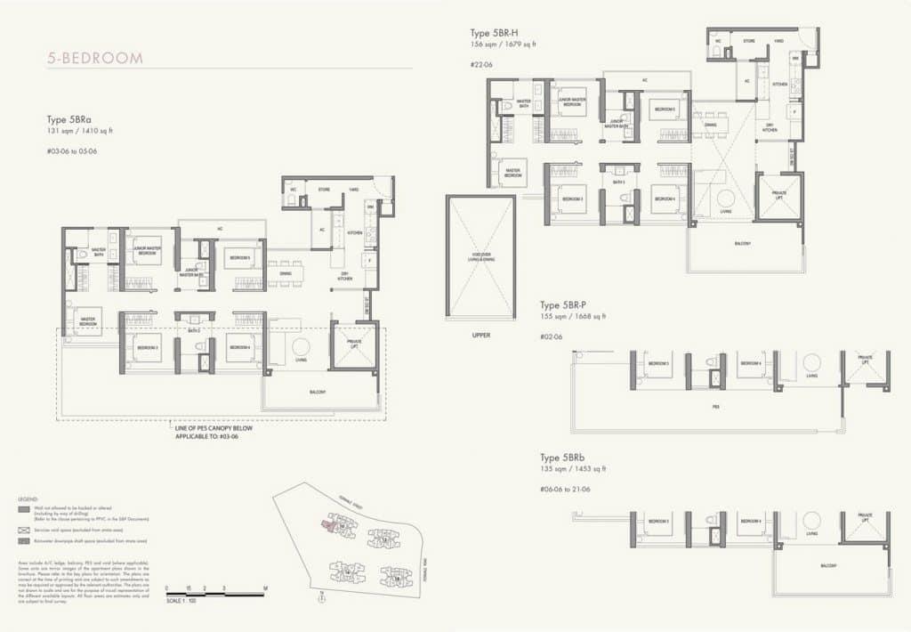 Parc Botannia Condo Floor Plan 5BR