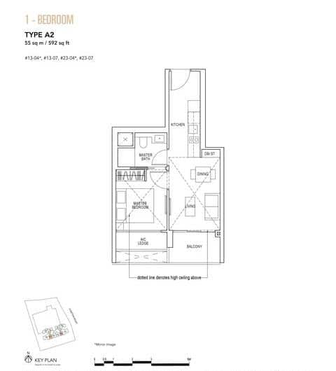 Sky Everton Condo Floor Plan 1-Bedroom A2