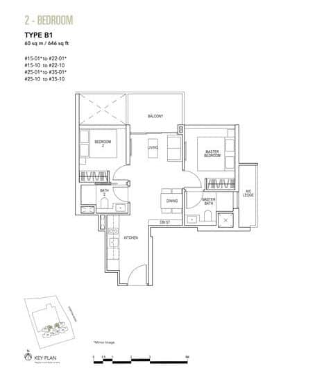 Sky Everton Condo Floor Plan 2-Bedroom B1