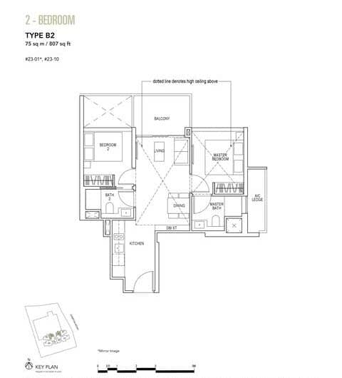 Sky Everton Condo Floor Plan 2-Bedroom B2