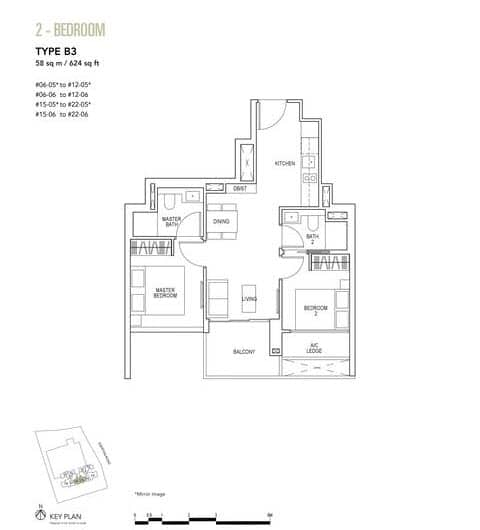 Sky Everton Condo Floor Plan 2-Bedroom B3