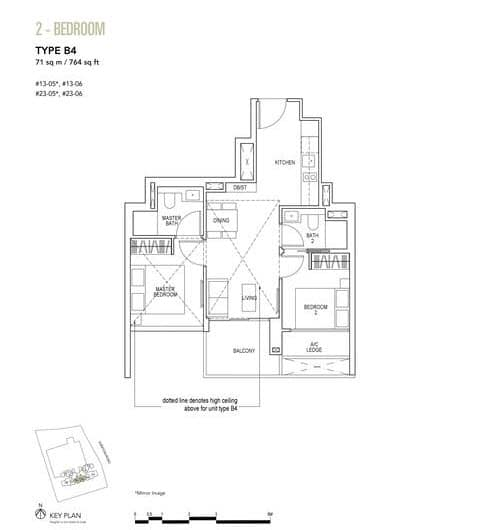 Sky Everton Condo Floor Plan 2-Bedroom B4