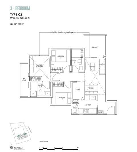 Sky Everton Condo Floor Plan 3-Bedroom C2