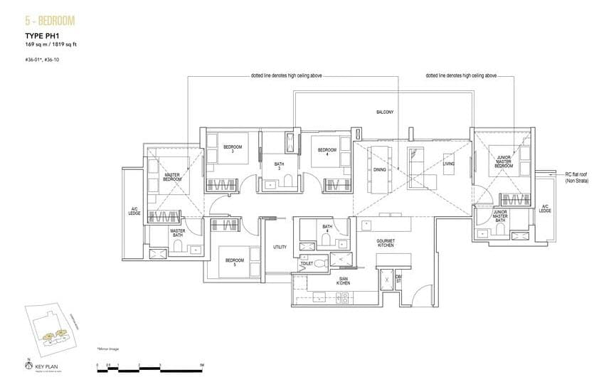 Sky Everton Condo Floor Plan Penthouse 5-Bedroom PH1