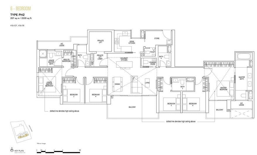 Sky Everton Condo Floor Plan Penthouse 6-Bedroom PH2