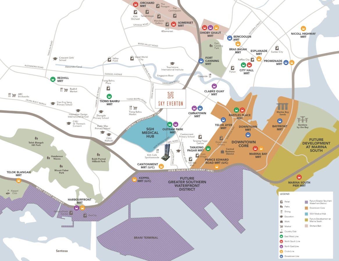 Sky Everton Condo Location Map