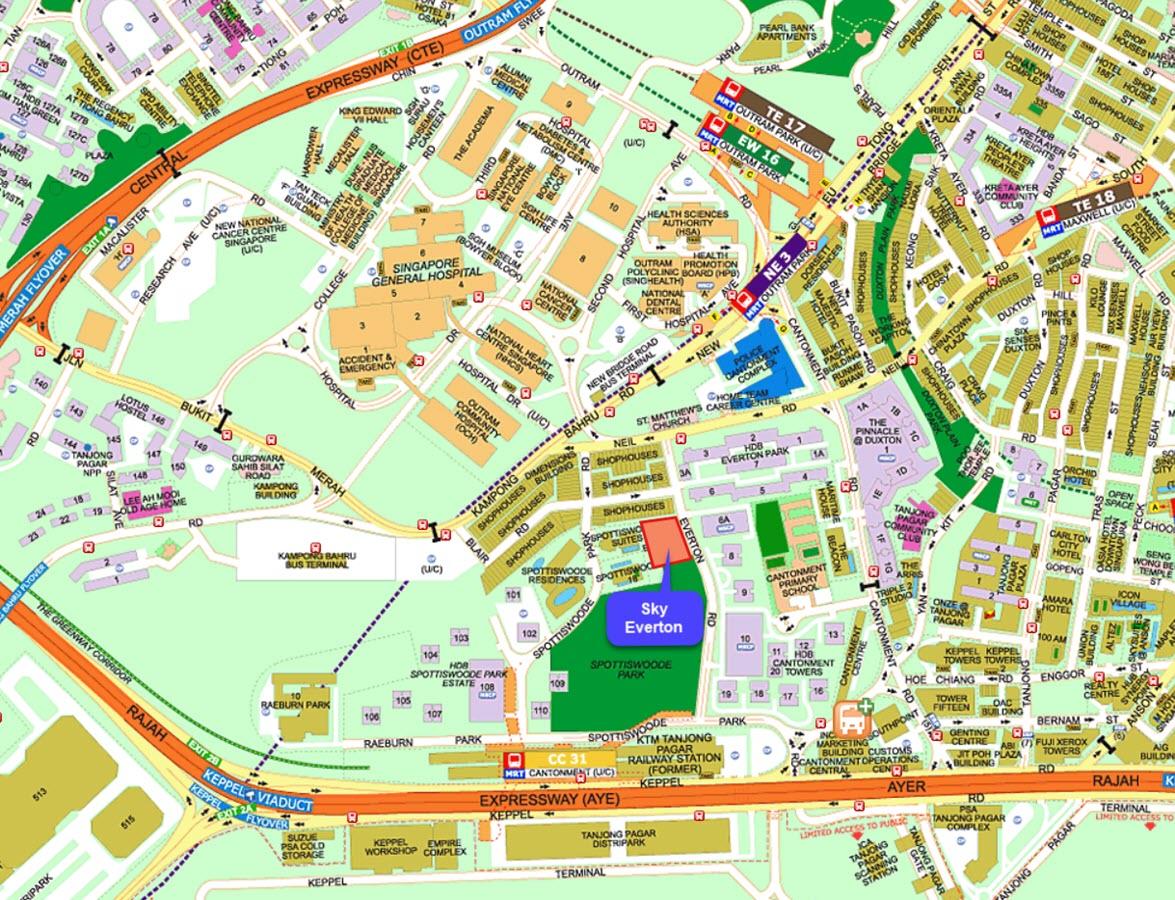 Sky Everton Condo Street Directory Map