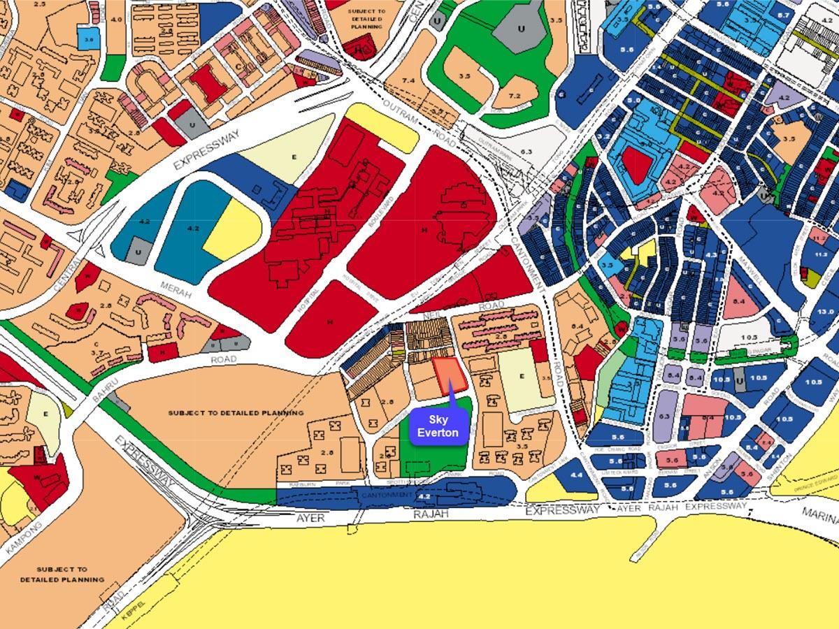 Sky Everton Condo URA Master Plan Map