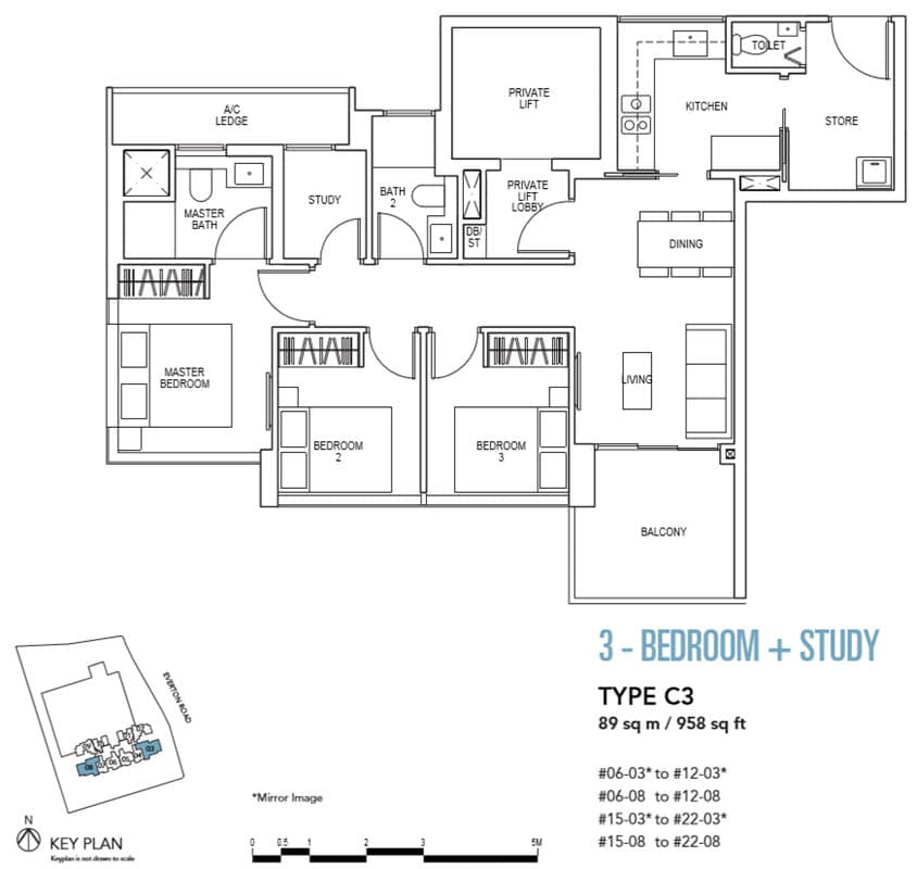 Sky Everton Showflat Unit 3-Bedroom + Study C3